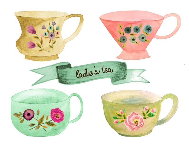 Cup clipart tea party. Pot set cups decor
