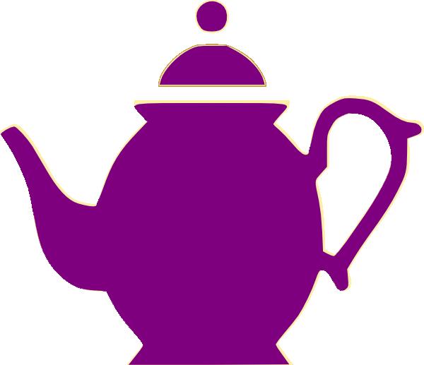 Teapot purple frames illustrations. Cup clipart tea party