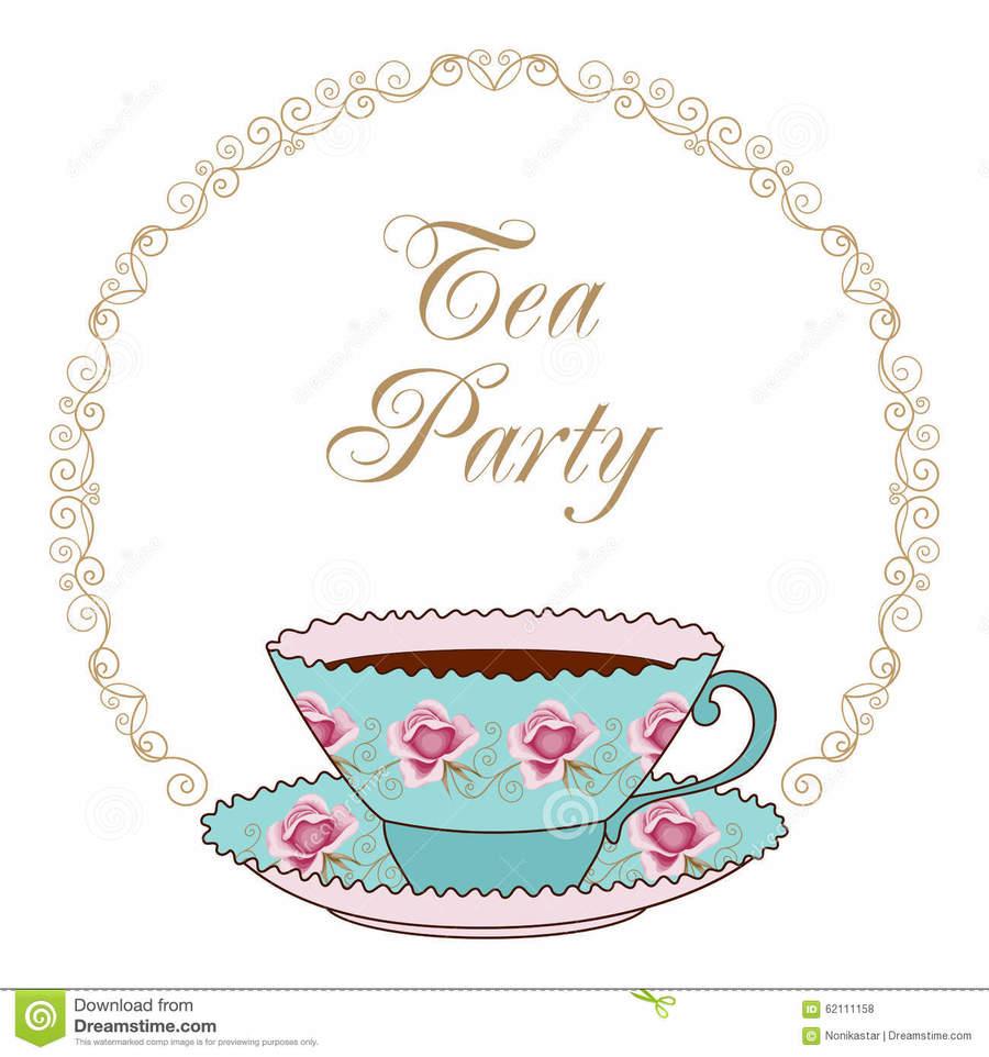 Download card clip art. Cup clipart tea party