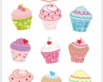 Cupcake clipart. Etsy on sale clip