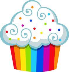 Free clip art delightful. Cupcake clipart