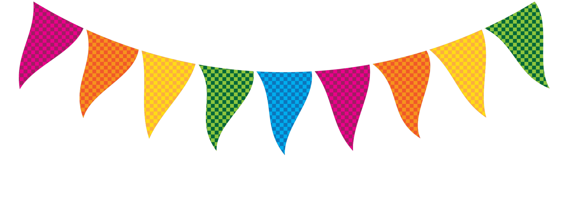 Triangle word cliparts free. Streamers clipart party banner