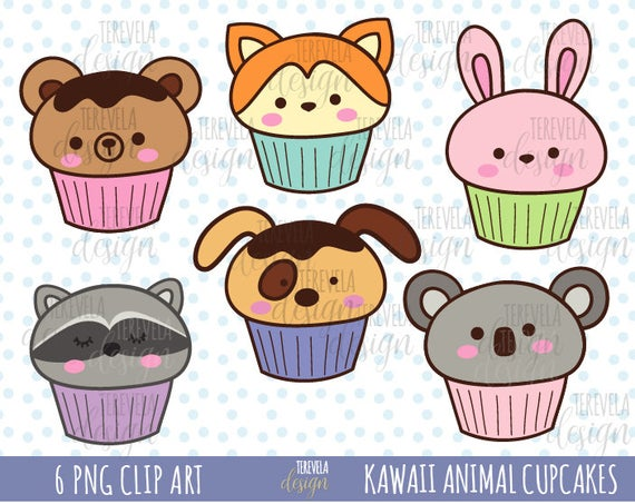 Cupcake clipart bunny. Animal cupcakes cute animals