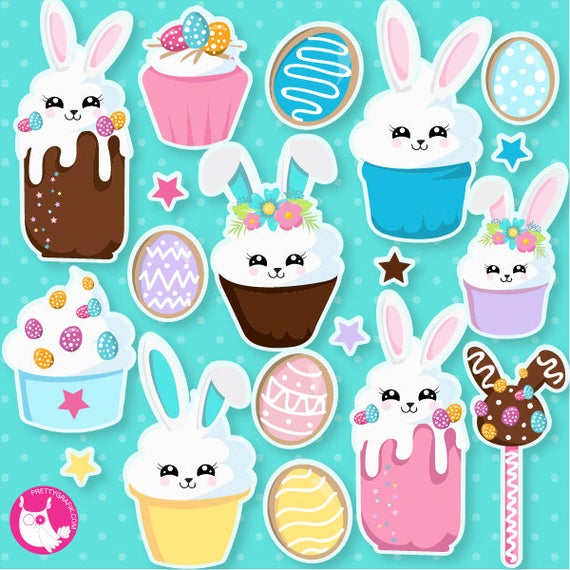 Cupcake clipart bunny. Buy get easter cupcakes