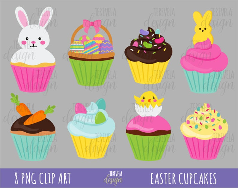 sale easter cupcakes. Cupcake clipart bunny
