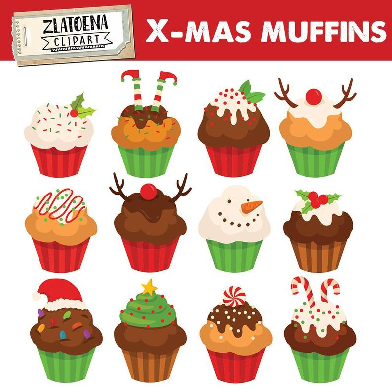 Christmas svg muffin digital. Muffins clipart cupcake