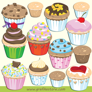 Cupcake clipart cookie.
