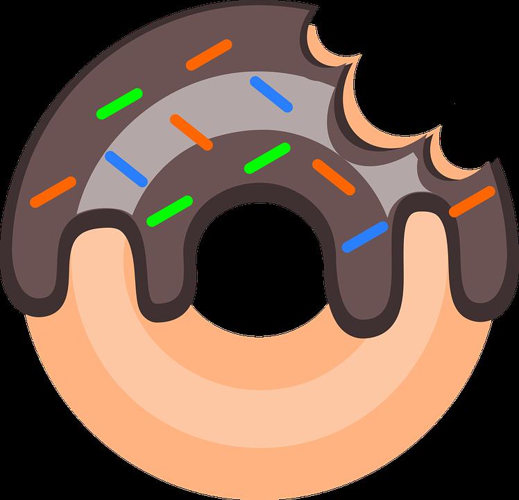 Scrapbook clipart donut. Doces biscoitos dibujos pinterest