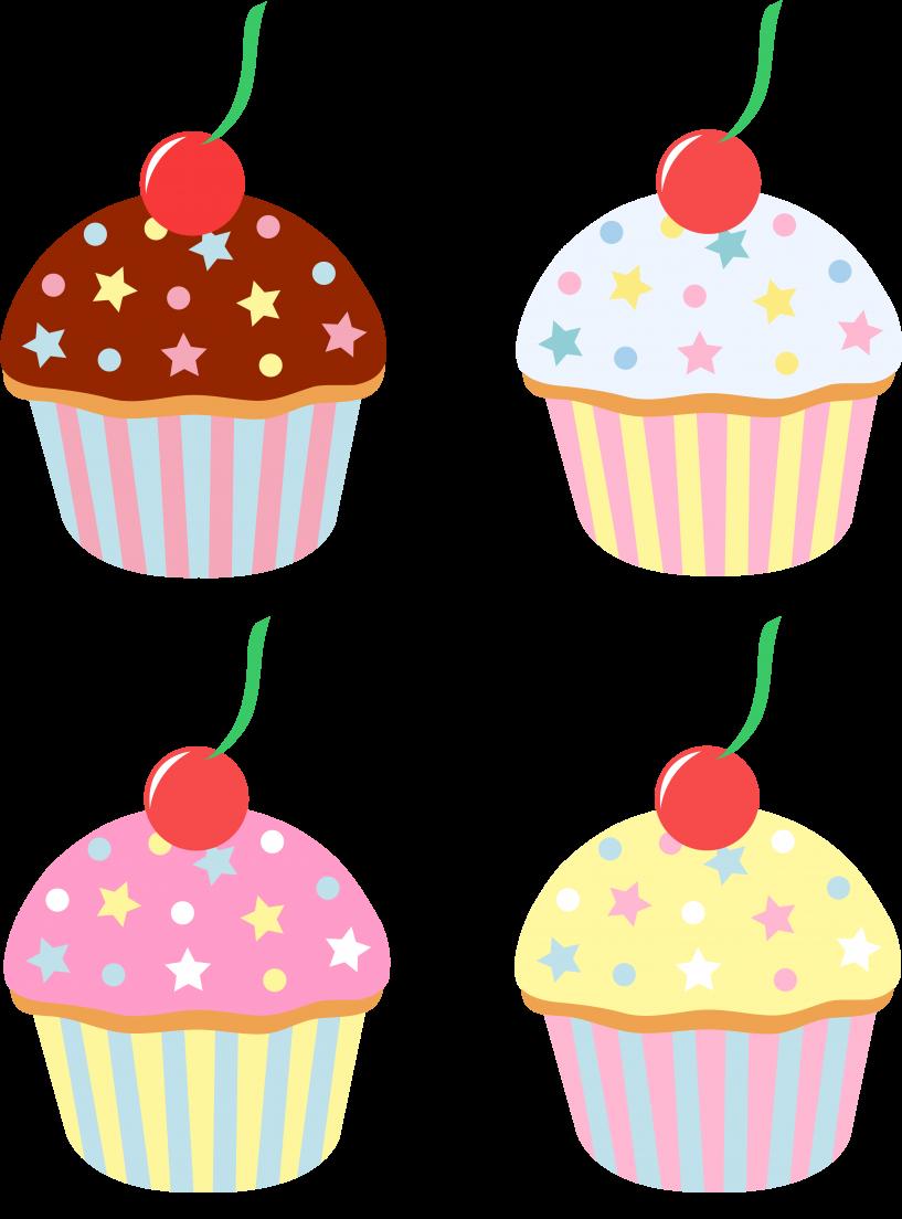 Cupcake clipart four, Cupcake four Transparent FREE for ...