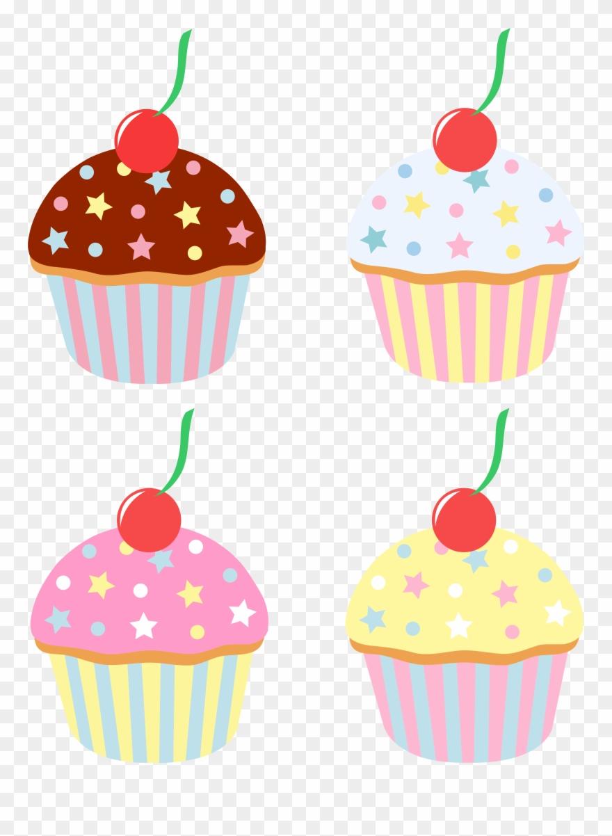 Cupcake clipart gourmet cupcake. Vanilla sprinkle cartoon cakes