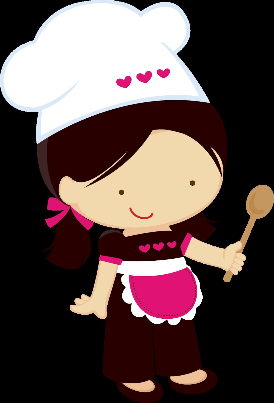Female clipart baking. Little girl chefs oh