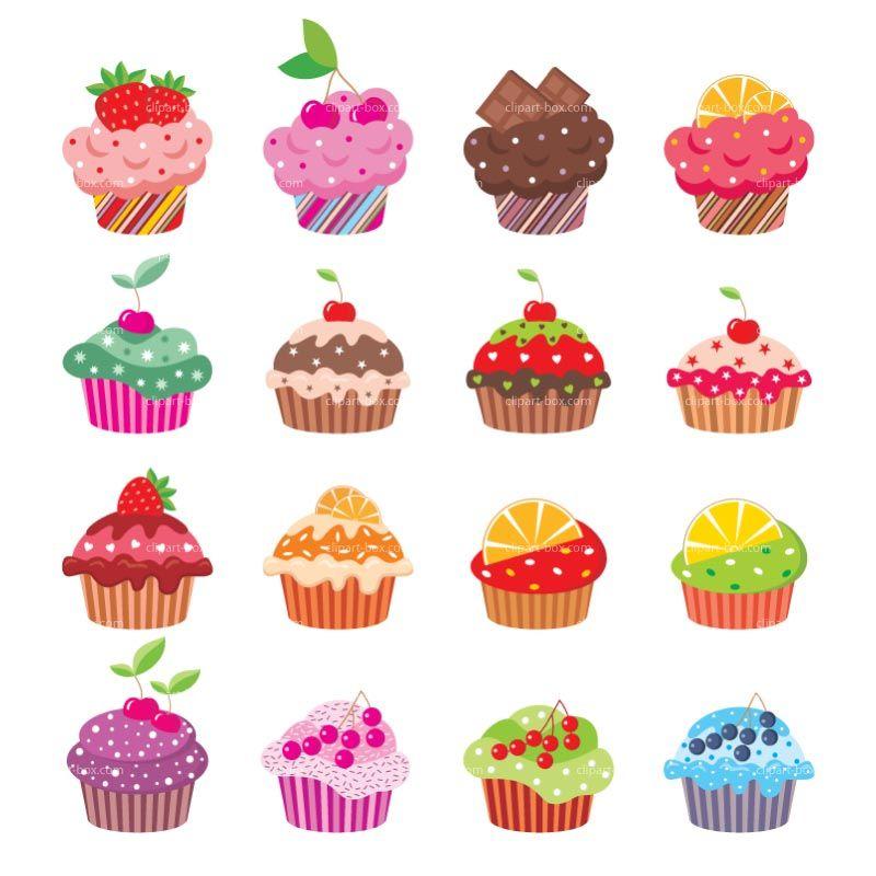 Cupcake clipart ladybug. Cupcakes royalty free vector