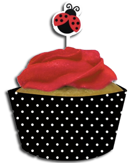 Little wrappers picks just. Cupcake clipart ladybug