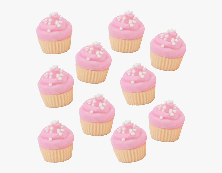 Cupcake clipart mini cupcake. Pink vanilla fondant cupcakes