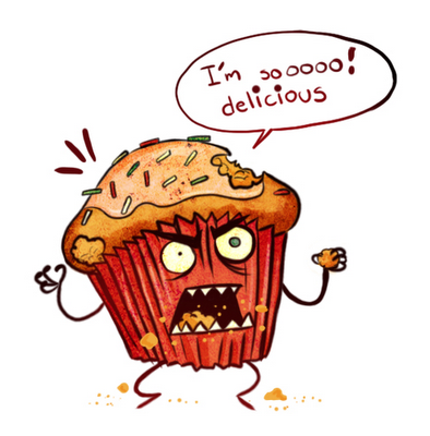 Cartoon images super punch. Cupcake clipart monster