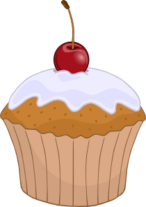 Muffins clipart simple cupcake. Muffin clip art vector