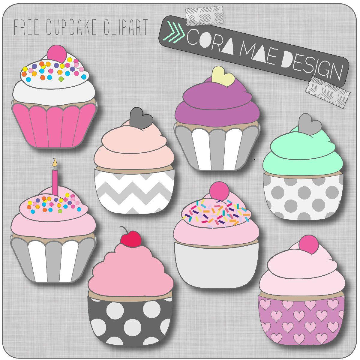 Cupcake clipart scrapbook. Free printable for junk
