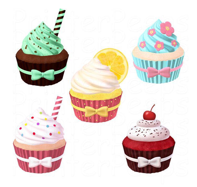 Pack digital by printerpeeps. Cupcake clipart scrapbook