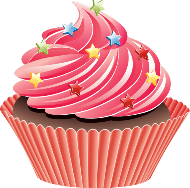 collection of cupcakes. Cupcake clipart slice