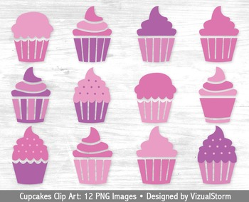 Cupcakes clipart 12 cupcake. Pink and purple clip