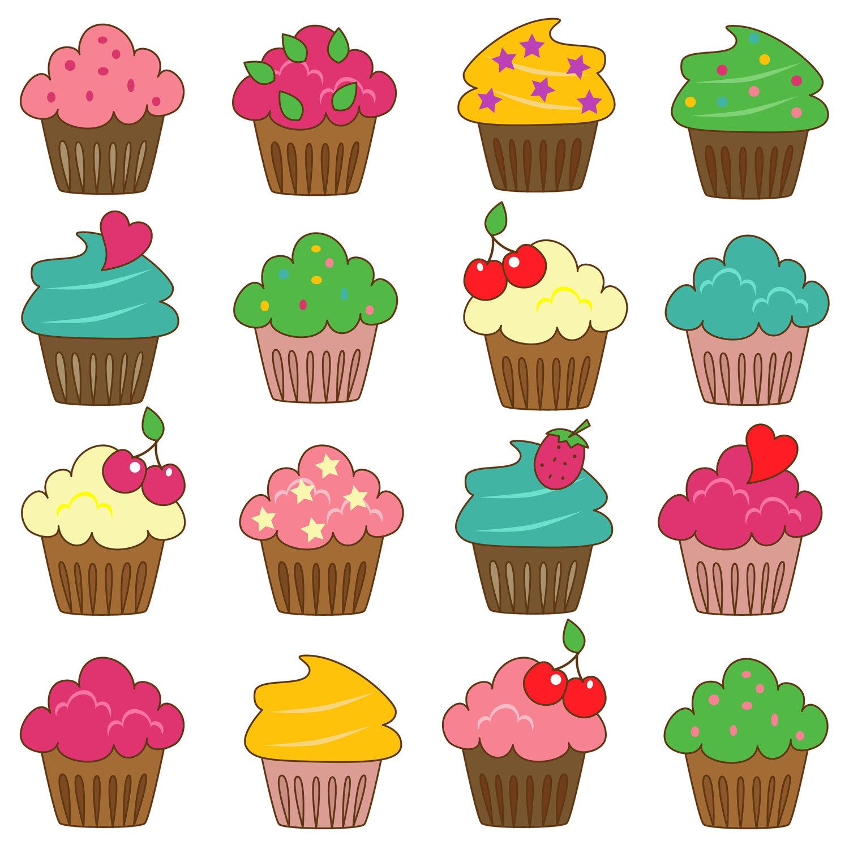 Cute cupcakes panda free. Muffin clipart whimsical cupcake