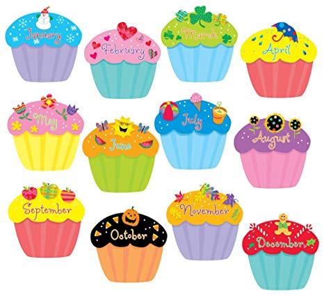 Creative teaching press inch. Cupcakes clipart april