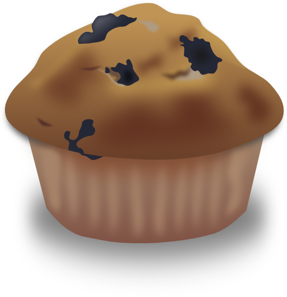 Clip art at clker. Muffins clipart blueberry muffin