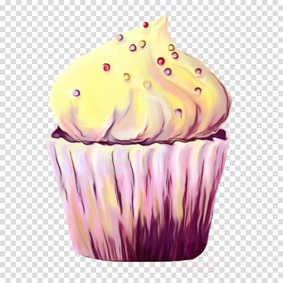 Cupcake icing baking cup. Cupcakes clipart buttercream