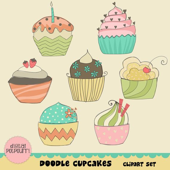 Buy get set doodle. Cupcakes clipart easy cupcake