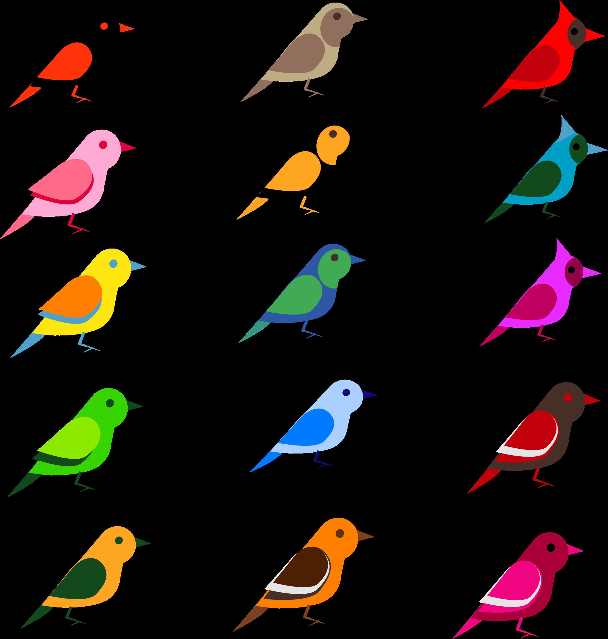 Simple birds by barbie. Lemons clipart lukisan
