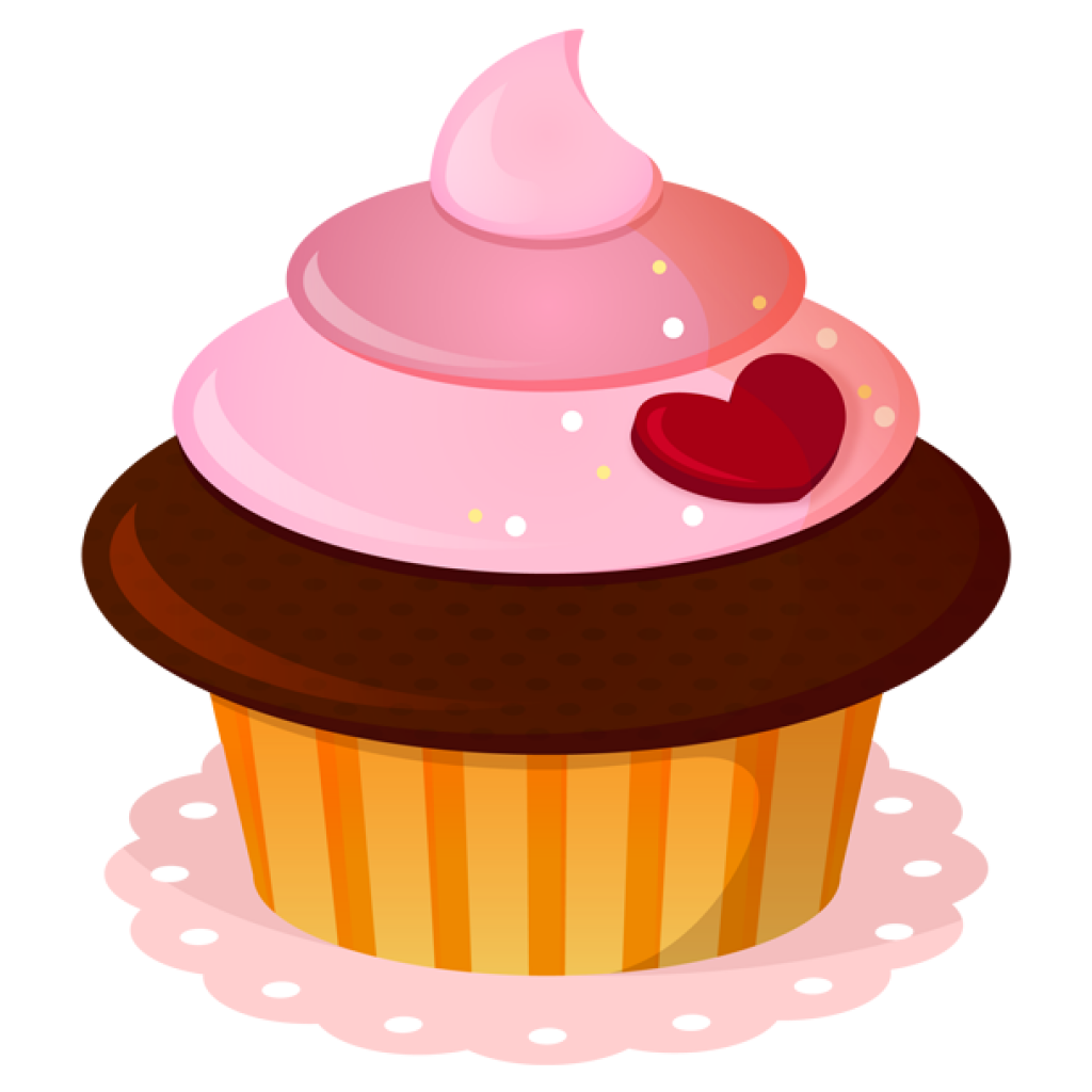 Muffin clipart frosted cupcake. Birthday cupcakes frosting icing