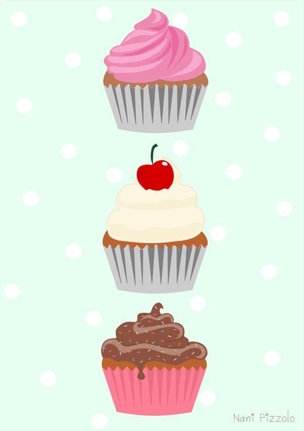 Printables nani pizzolo www. Cupcakes clipart pastel cupcake