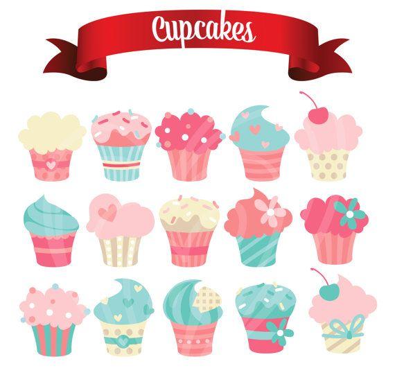 Color lindo delicioso por. Cupcakes clipart pastel cupcake
