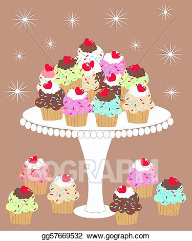 Drawing i love gg. Cupcakes clipart plate cupcake