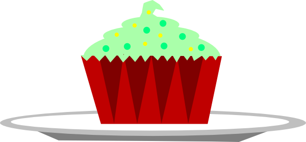 Cupcakes clipart plate cupcake. A picture of free