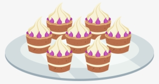 Cupcakes clipart plate cupcake. Png transparent image free