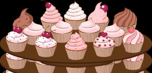 Graphic design sbool birthday. Cupcakes clipart plate cupcake