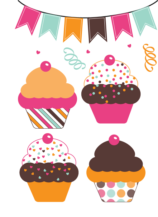 Free cute graphics by. Cupcakes clipart polka dot cupcake
