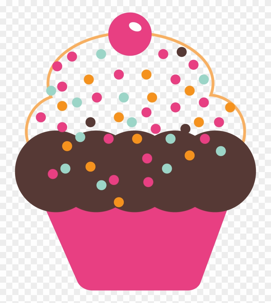 Cupcakes clipart polka dot cupcake. Baking cup pink cake