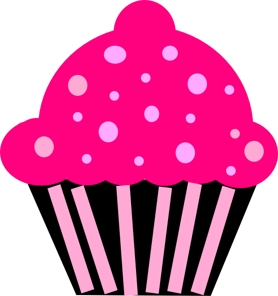 Cupcake black clip art. Number 1 clipart pink