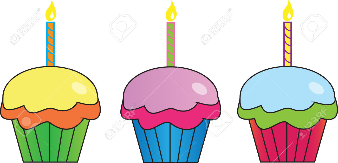 Pink cupcakes free download. Muffins clipart cupcake birthday