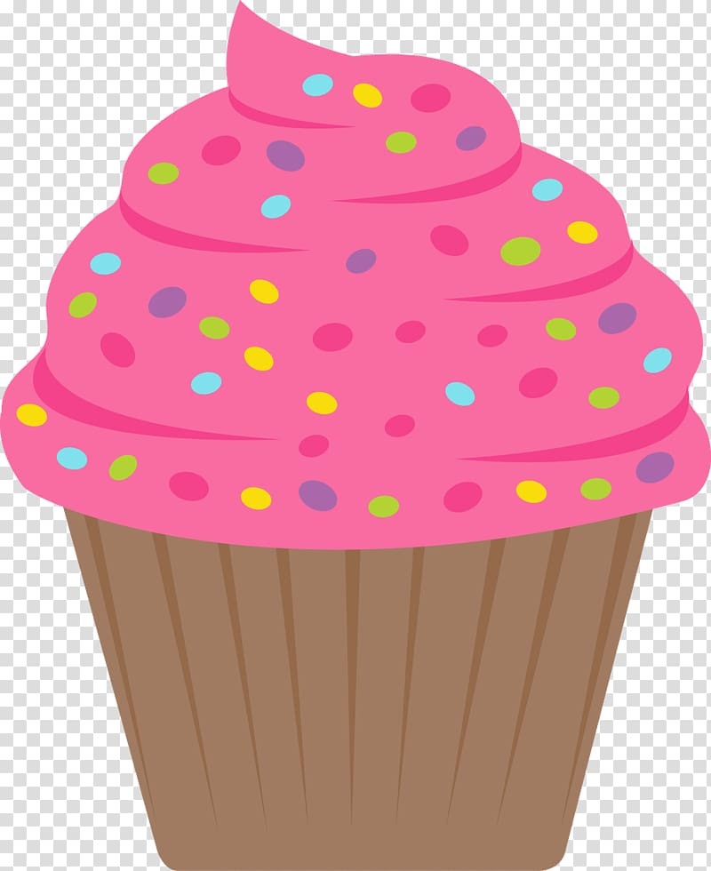 Cupcakes candy watercolor transparent. Sprinkles clipart cake decorating
