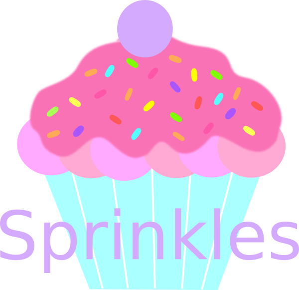 Muffin clipart yummy cupcake. Sprinkles clip art at