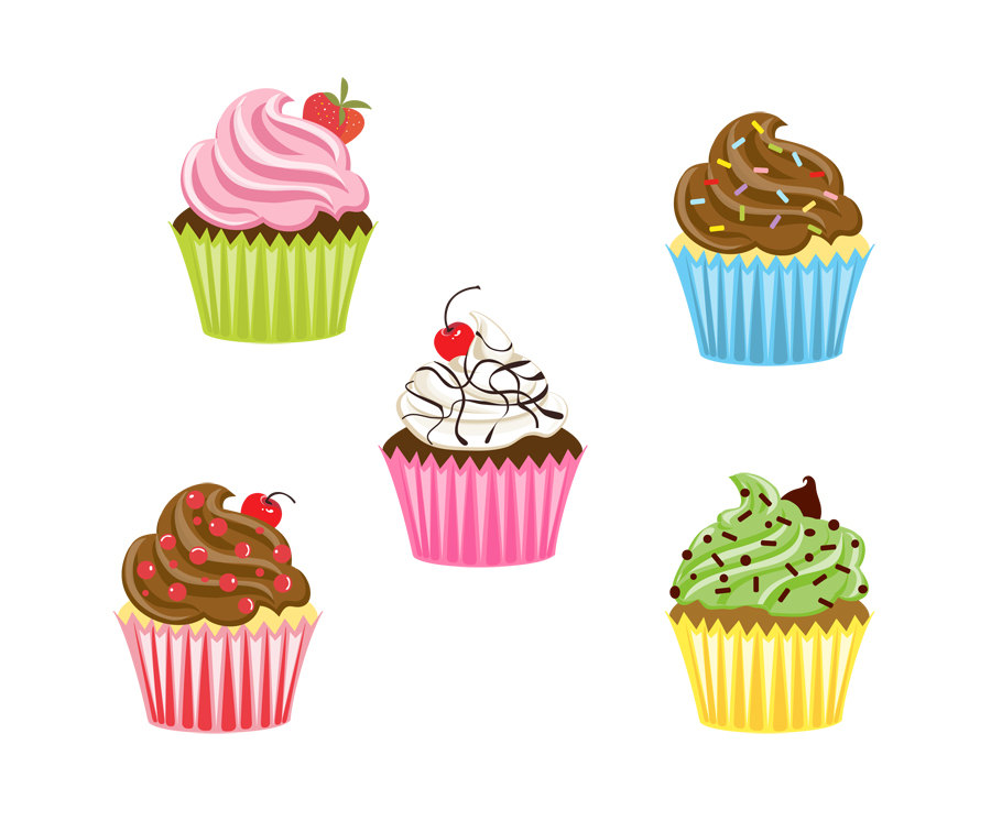 Cupcakes clipart tiny cupcake. Free small cliparts download
