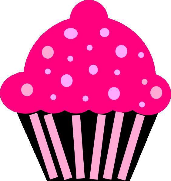 Pink clipart muffin. Cupcake black clip art