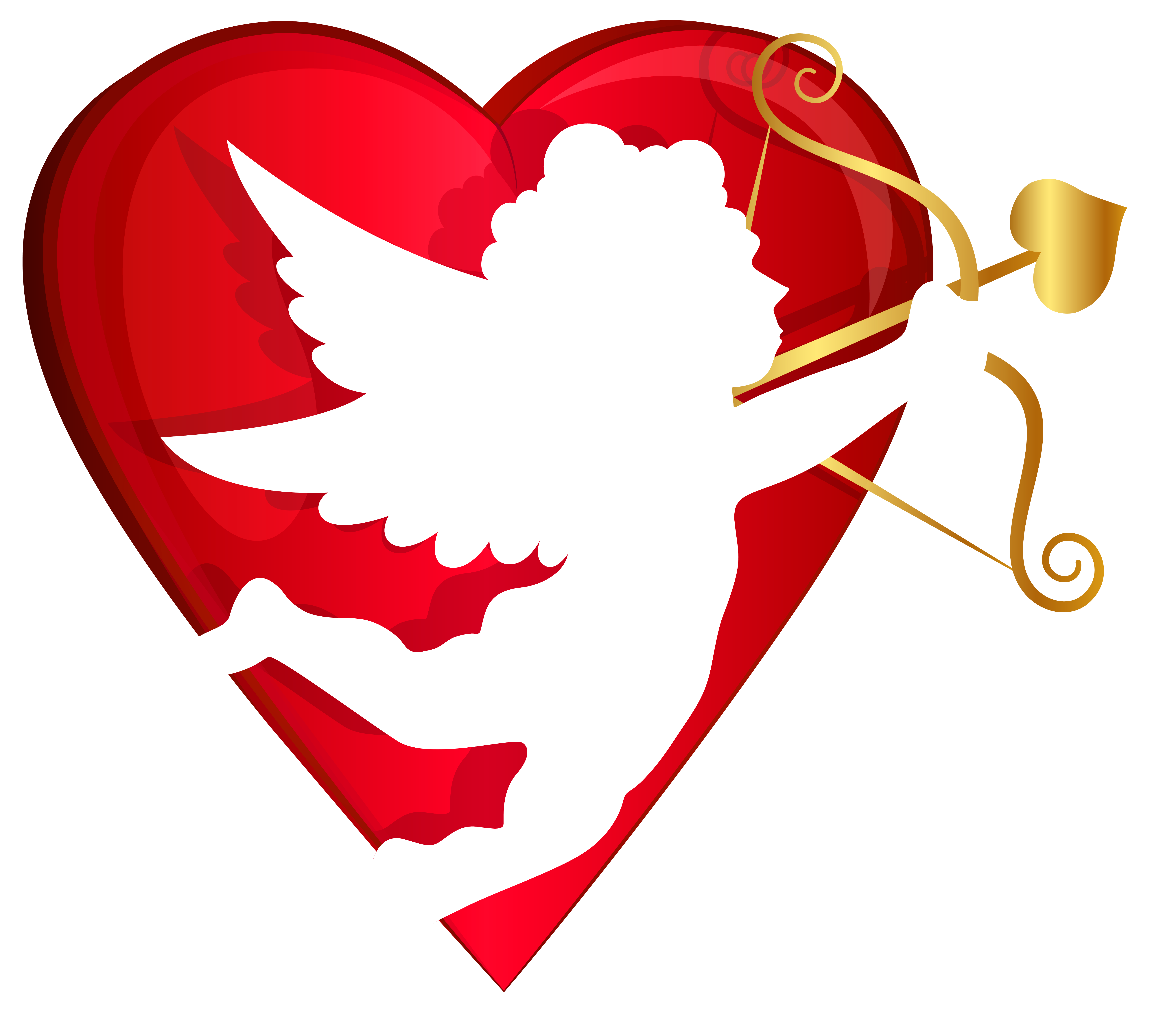 Clipart halloween heart. Red and cupid transparent