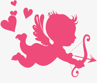 Pink love png image. Cupid clipart
