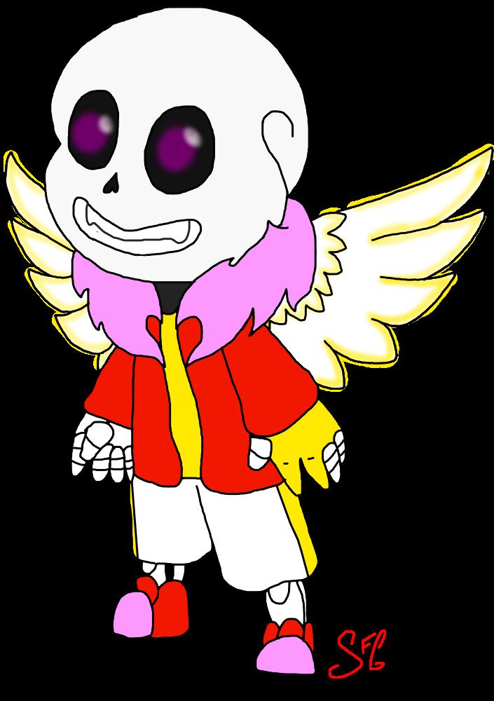 Cupid clipart comic. Chibi sans lovetale by