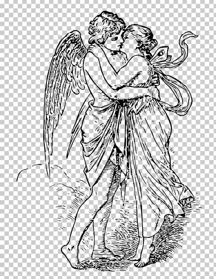 Cupid clipart cupid and psyche. Revived by s kiss