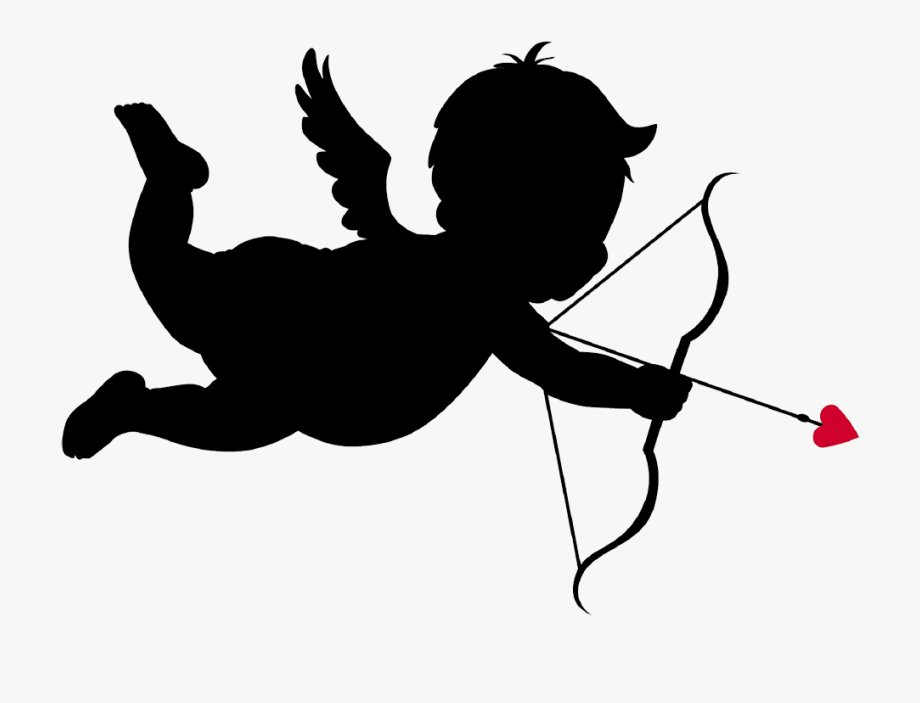 Cupid clipart file. With bow and arrow